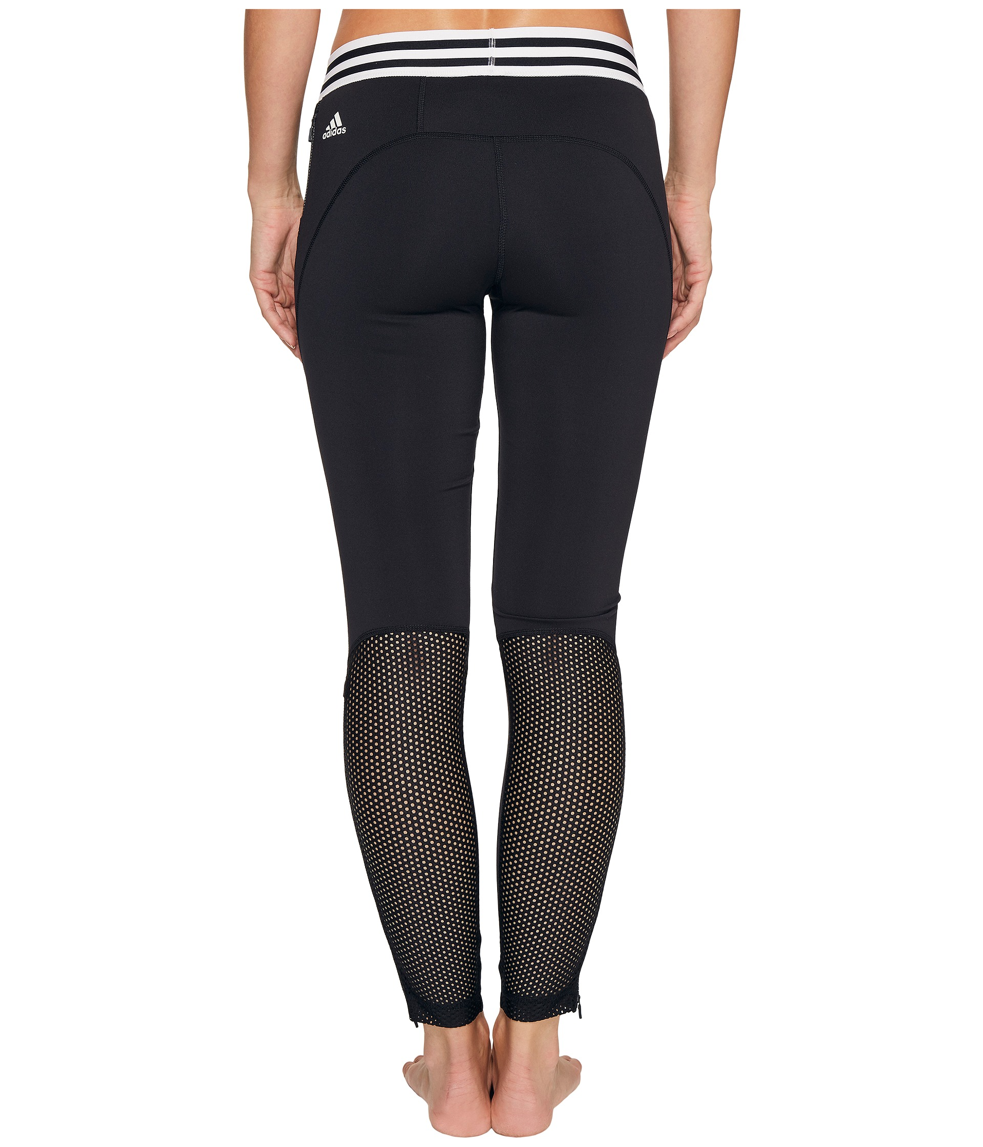 adidas sport id zipper leggings black free shipping both ways. Black Bedroom Furniture Sets. Home Design Ideas