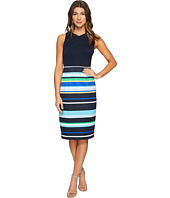 Maggy London - Regatta Stripe Scuba Sheath Dress