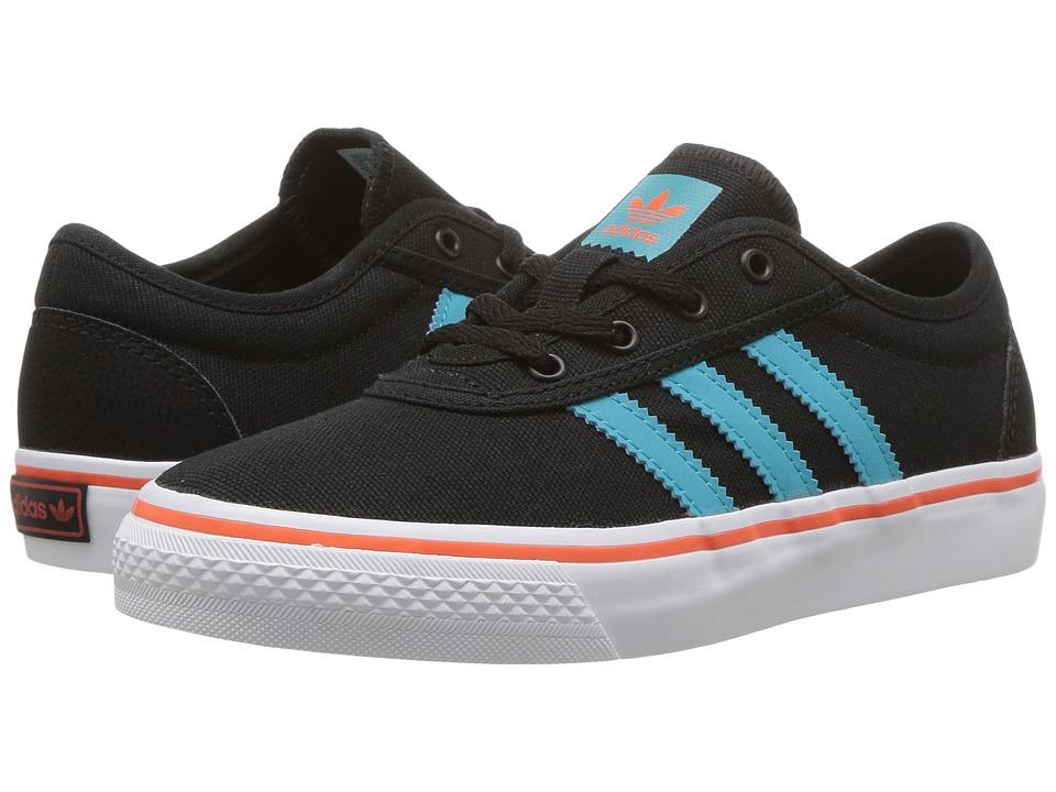 adidas Skateboarding - Adi-Ease J (Little Kid/Big Kid) (Core Black/Energy Blue/Energy Blue) Skate Shoes