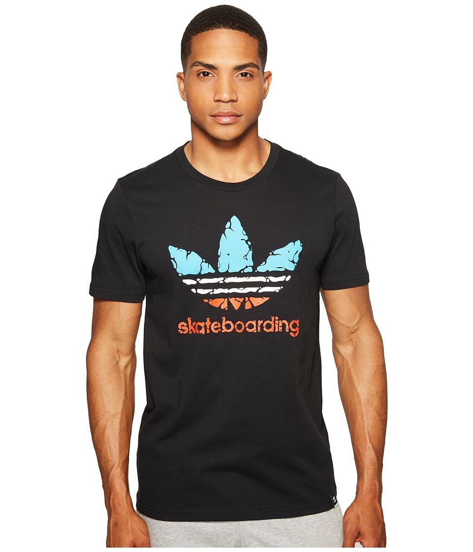 adidas Skateboarding Clima 3.0 Courtside Tee (Black/Energy Blue/White/Energy) Men