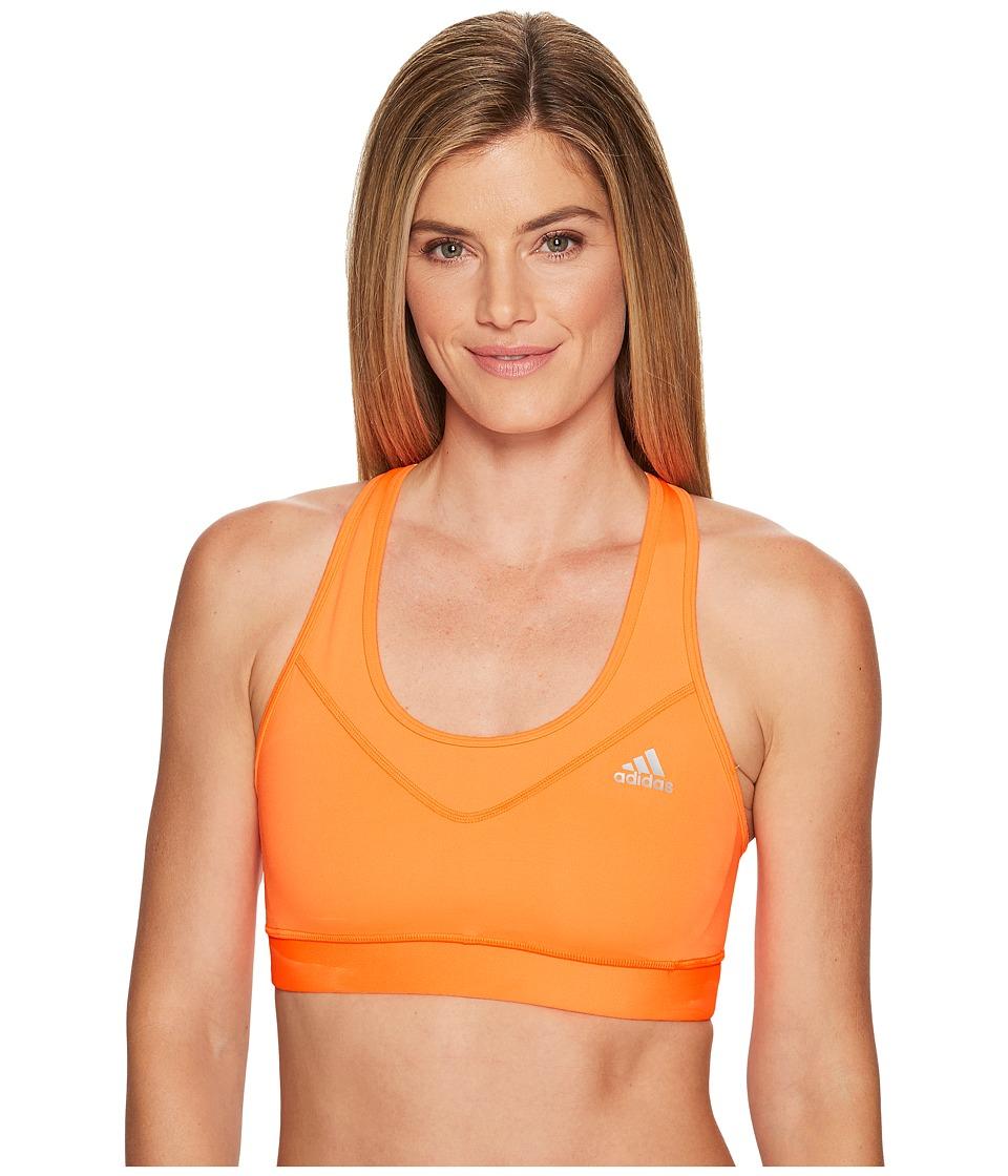adidas Techfit Bra (Glow Orange/Matte Silver) Women