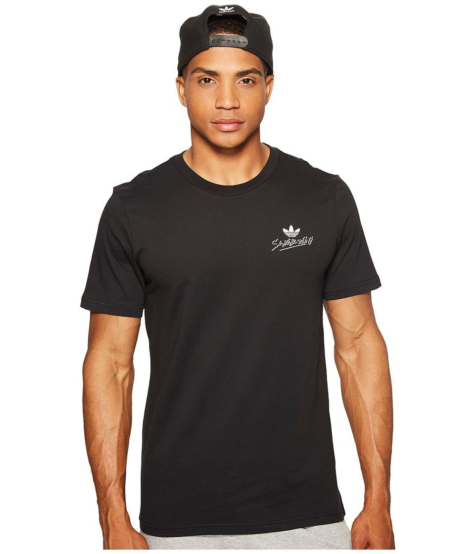 adidas Skateboarding Radical Tee (Black/White/Energy/Energy Blue) Men