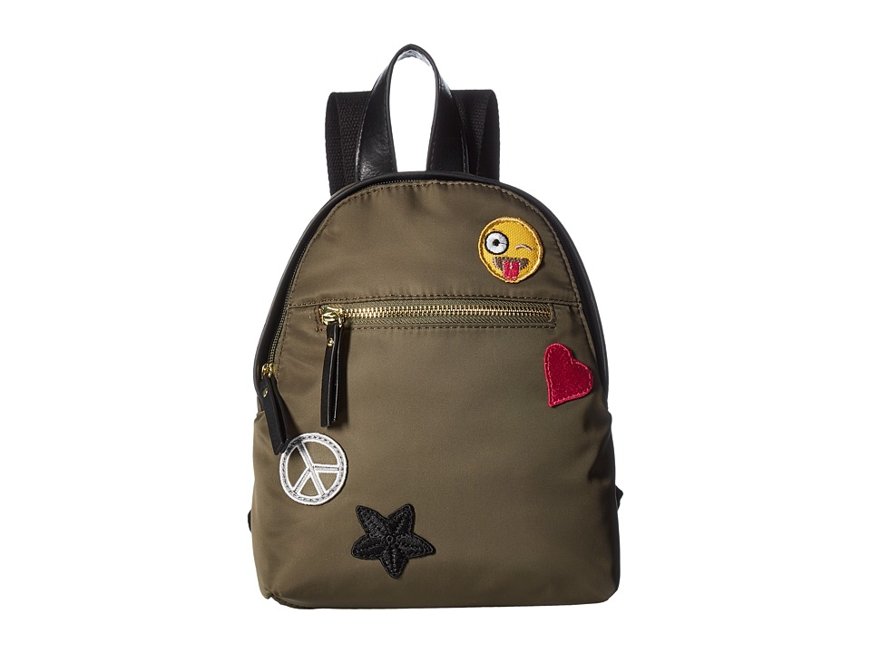 Steve Madden Mgprirmp Mini Backpack by Madden Girl (Olive w/ Patches) Backpack Bags