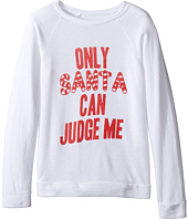 The Original Retro Brand Kids - Only Santa Can Judge Me Quad Pullover (Little Kids/Big Kids)