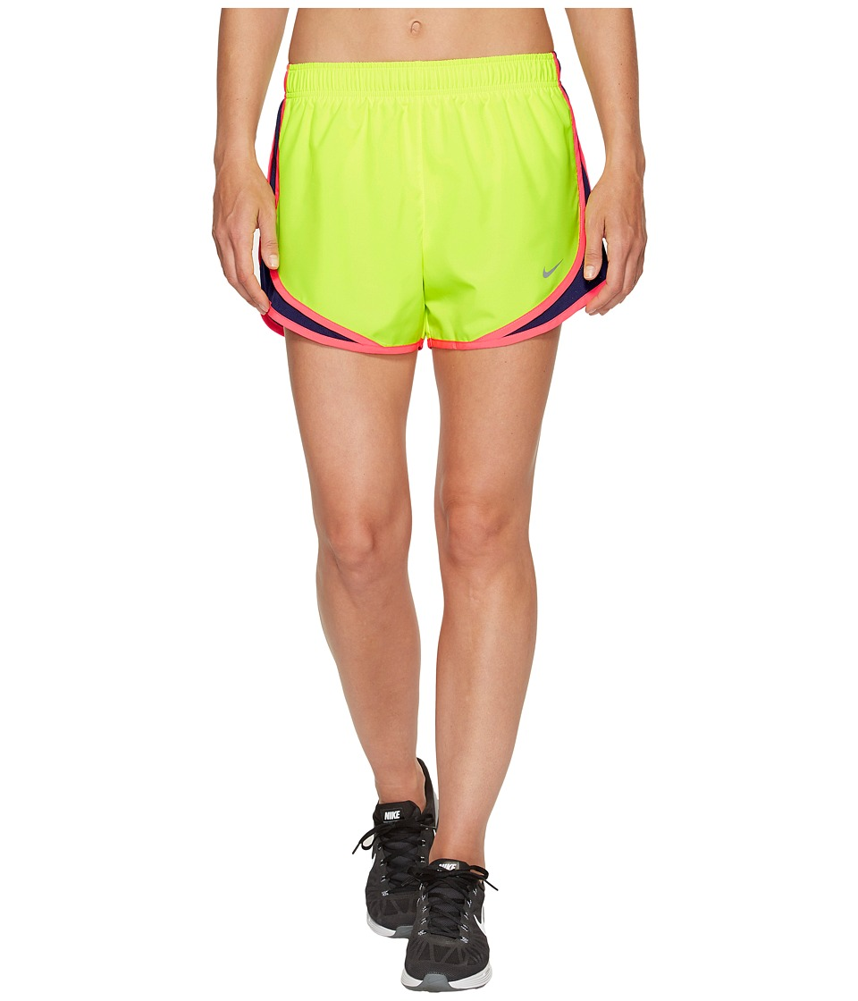 Nike Dry Tempo Short (Volt/Binary Blue/Racer Pink/Wolf Grey) Women