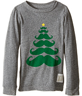 The Original Retro Brand Kids - Long Sleeve Tri-Blend Mustache X-Mas Tree Tee (Toddler)