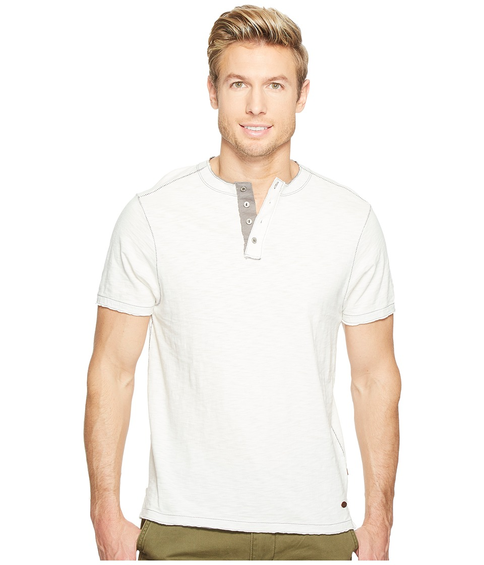 True Grit - Vintage Soft Slub Jersey Short Sleeve Crew Henley with Contrast