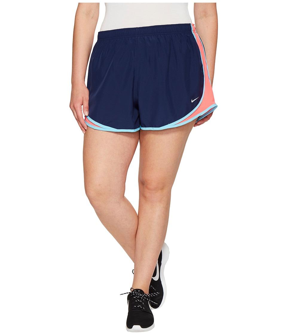 Nike Dry Tempo 3 Running Short (Size 1X-3X) (Binary Blue/Racer Pink/Wolf Grey) Women