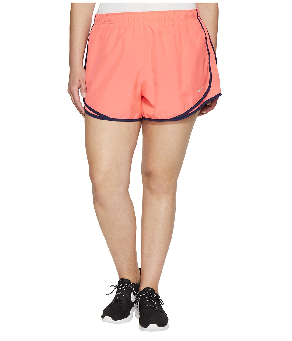 Nike Dry Tempo 3 Running Short (Size 1X-3X) (Racer Pink/Racer Pink/Wolf Grey) Women
