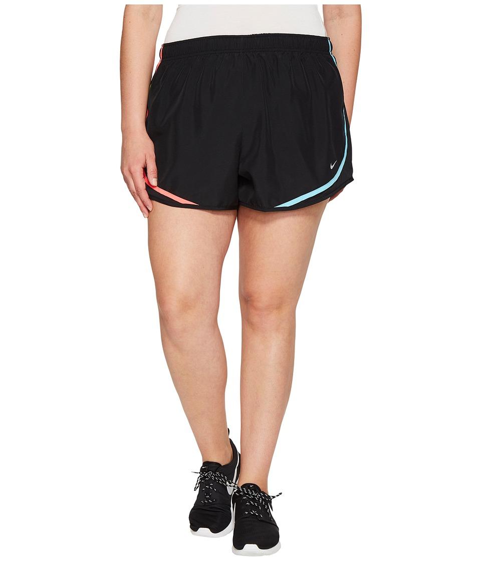 Nike Dry Tempo 3 Running Short (Size 1X-3X) (Black/Racer Pink/Wolf Grey) Women