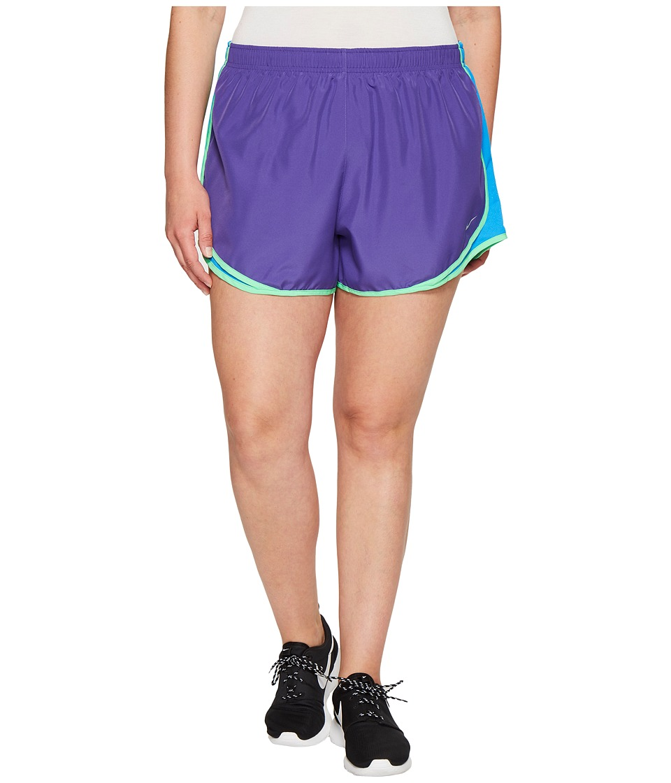 Nike Dry Tempo 3 Running Short (Size 1X-3X) (Dark Iris/Light Photo Blue/Wolf Grey) Women