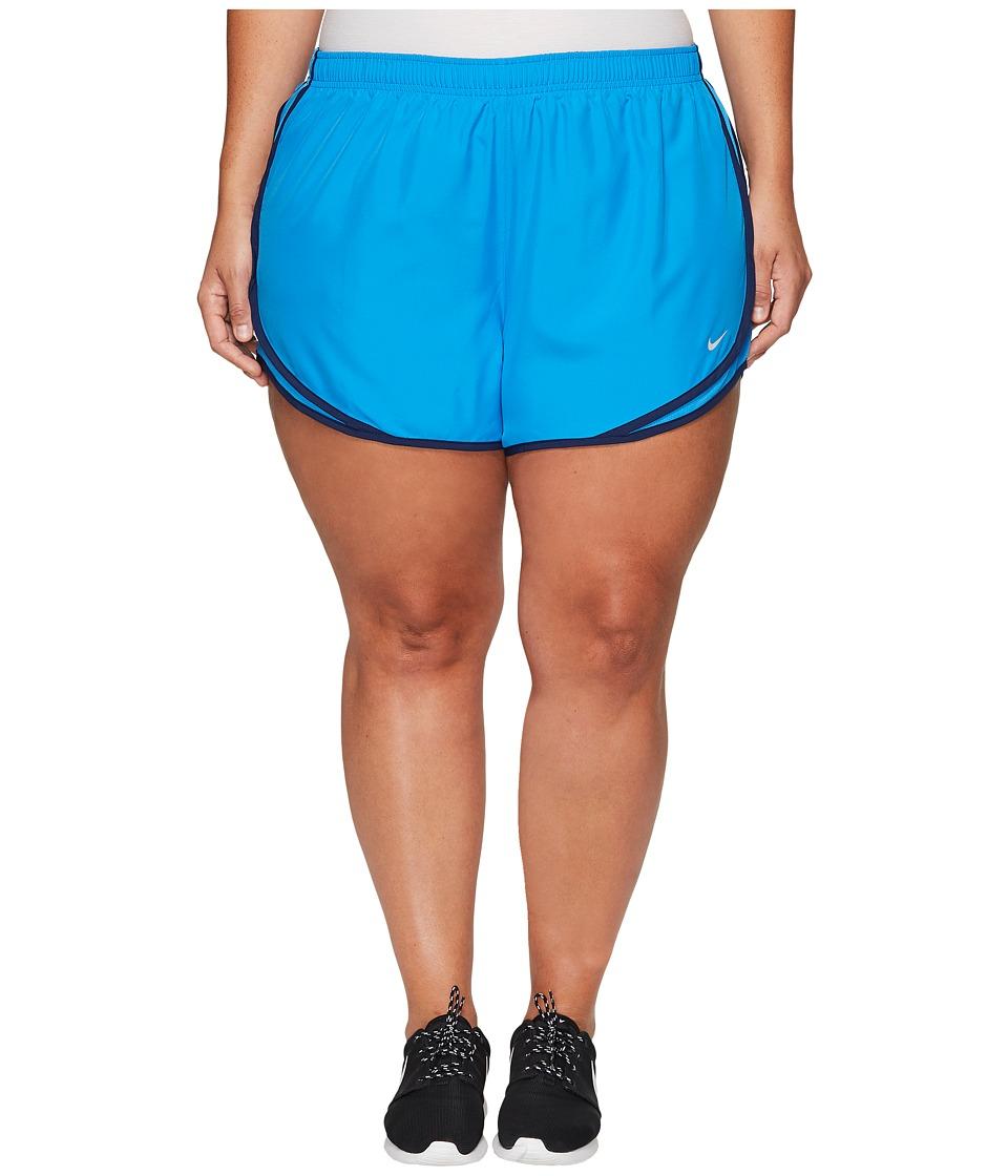 Nike Dry Tempo 3 Running Short (Size 1X-3X) (Light Photo Blue/Light Photo Blue/Wolf Grey) Women