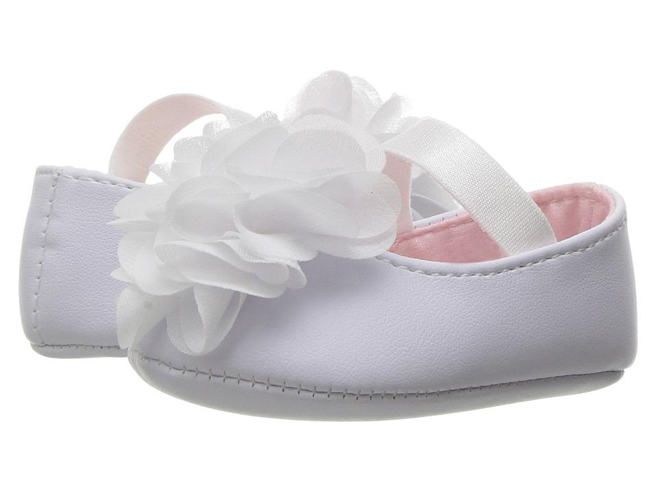 Baby Deer Ballet Skimmer with Flower (Infant) (White) Girls Shoes