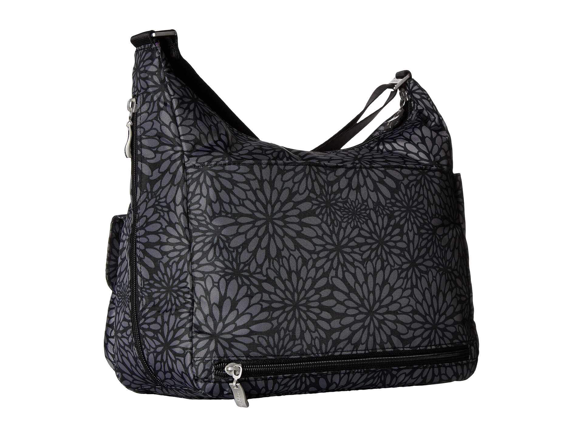 Baggallini Everywhere Bag Pewter Floral Free Shipping Both Ways