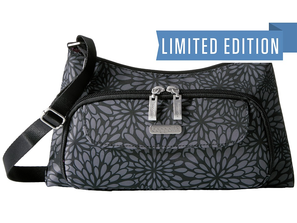 Baggallini Everyday Bag (Pewter Floral) Bags