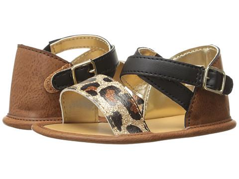 Baby Deer Banded Sandal (Infant) - Tan/Leopard