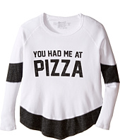 The Original Retro Brand Kids - You Had Me at Pizza Thermal Contrast Pullover (Big Kids)