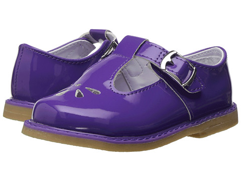 Baby Deer Leather T-Strap with Perforations (Infant/Toddler) - Purple