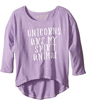 The Original Retro Brand Kids - Unicorns Are My Spirit Animal 3/4 Dolman Tee (Big Kids)