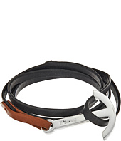 Miansai - Modern Silver Anchor on Two-Tone Leather Bracelet
