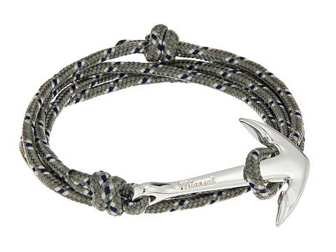 Miansai Anchor on Rope Bracelet - Gray/Blue