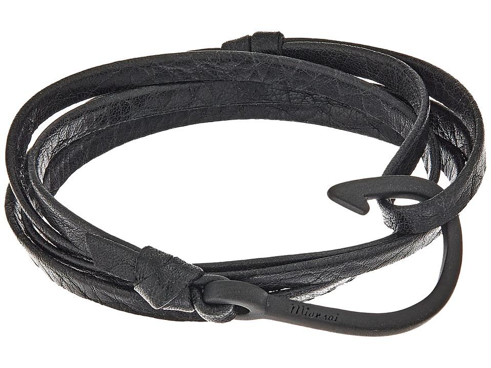 Miansai - Noir Hook on Leather Bracelet