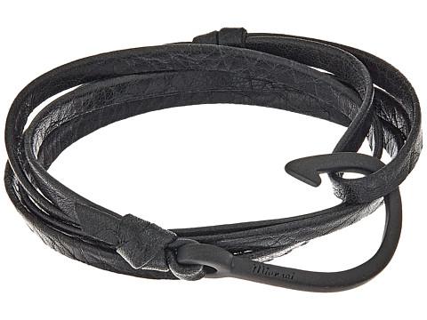 Miansai Noir Hook on Leather Bracelet - Asphalt