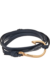 Miansai - Rose Gold Hook on Leather Bracelet