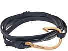 Miansai Rose Gold Hook on Leather Bracelet
