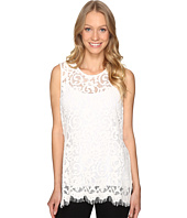 Karen Kane - Side-Slit Lace Tank Top