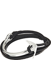 Miansai - Anchor Half Cuff on Leather Bracelet