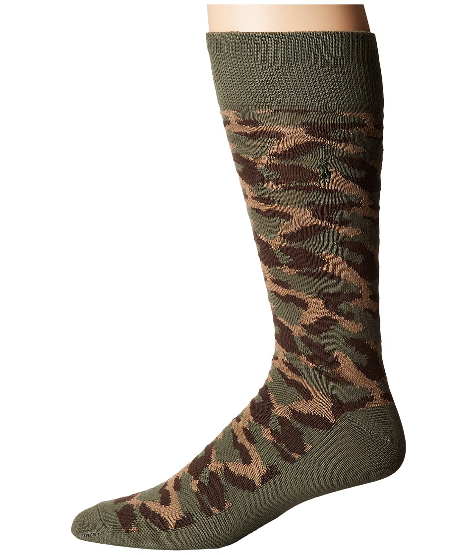 Polo Ralph Lauren Camo Boot Single (Olive) Men