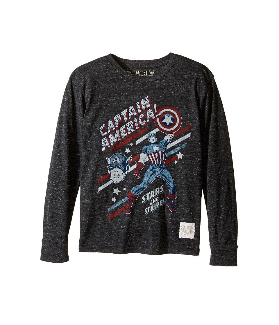 The Original Retro Brand Kids - Captain America Long Sleeve Tri