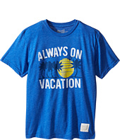 The Original Retro Brand Kids - Always on Vacation Short Sleeve Heathered Tee (Big Kids)