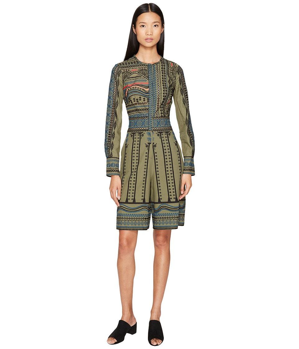 YIGAL AZROU  L - Tribal Embroidered Cotton Romper