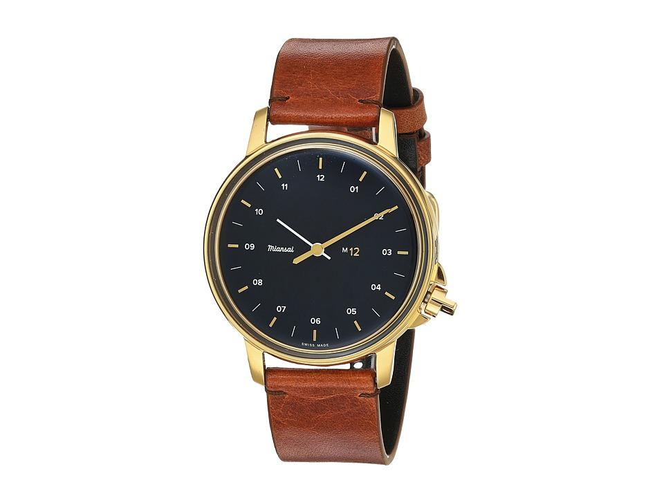 Miansai - M12 On Leather Strap (Vintage Cognac) Watches