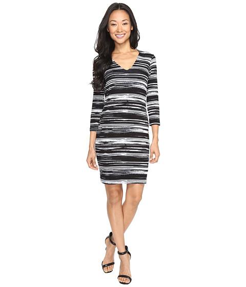 Karen Kane V-Neck Sheath Dress - Print