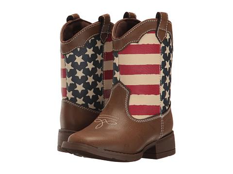 Baby Deer Western Americana Boot (Infant/Toddler) - Brown/Red