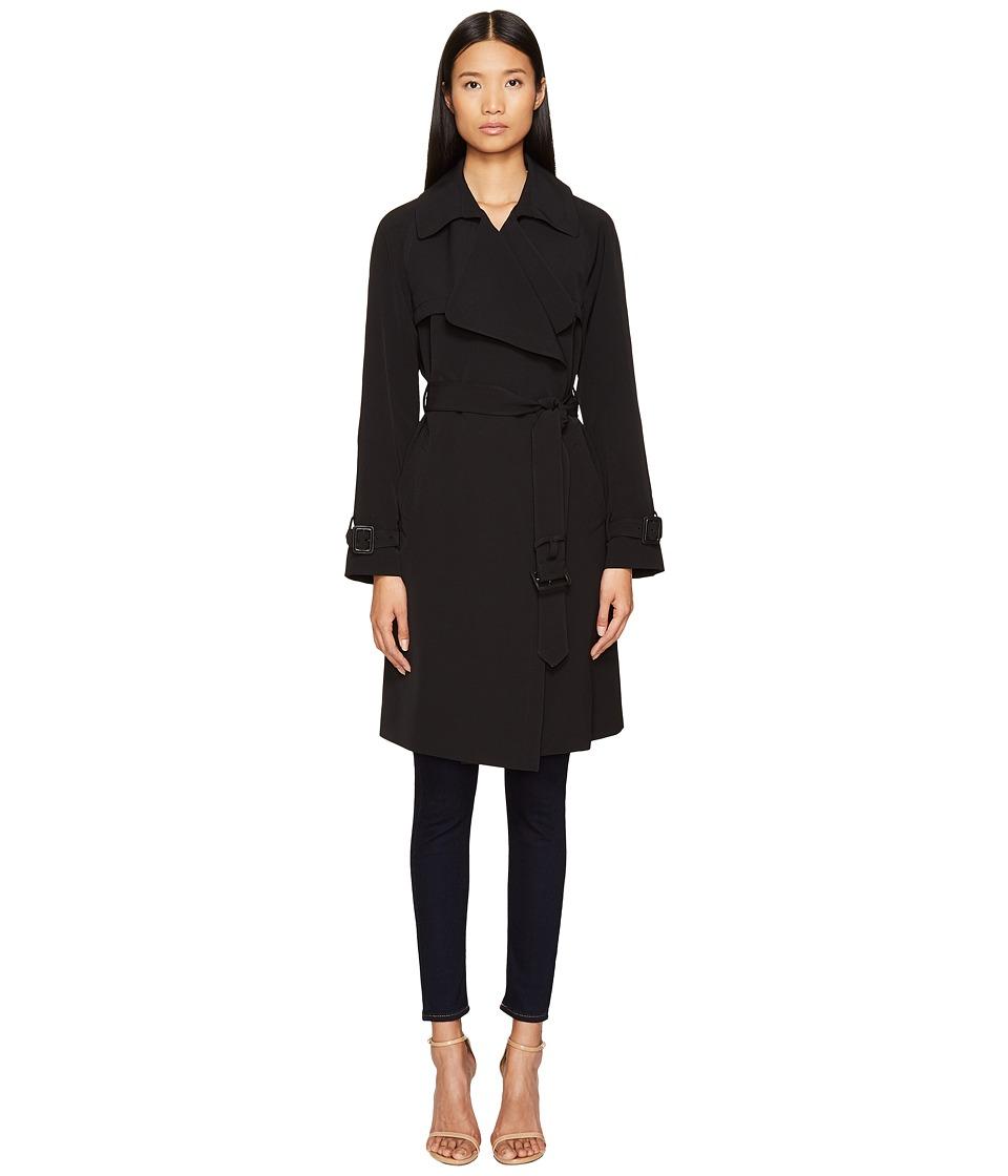 Diane von Furstenberg - Anouk Wide Notched Collar Trench Coat w/ Waist Belt