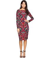 Maggy London - Ikat Texture Jersey Sheath Dress