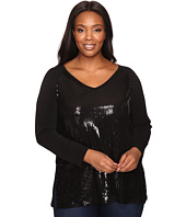 Karen Kane Plus - Plus Size V-Neck Sequin Top