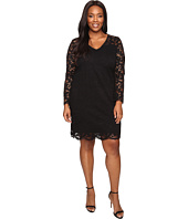 Karen Kane Plus - Plus Size Bracelet Sleeve Lace Dress