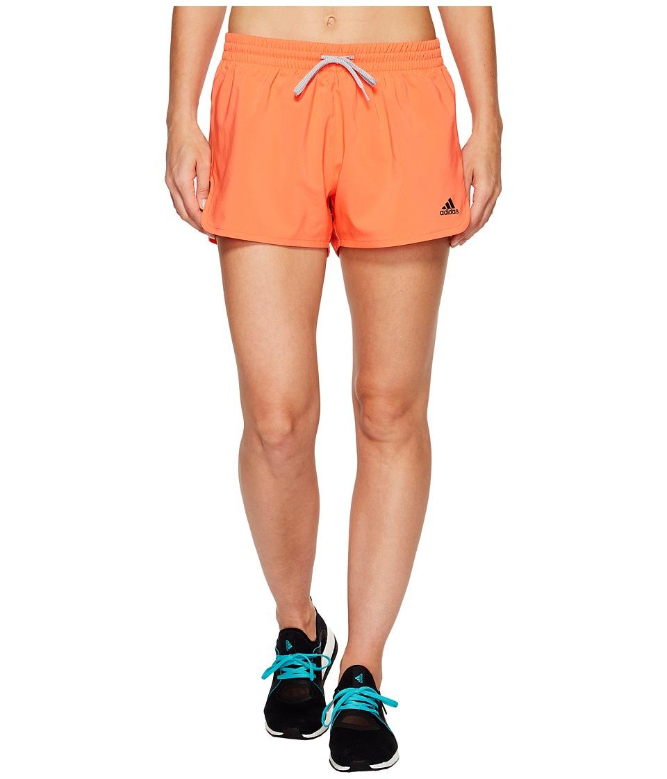 adidas Woven Slit Shorts (Easy Coral/Black) Women