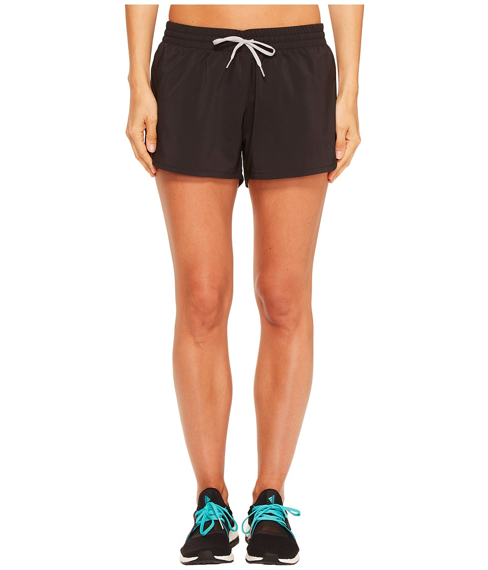 adidas Woven Slit Shorts (Black/Black) Women