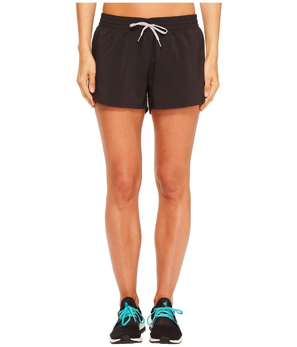 adidas Woven Slit Shorts (Black/Black) Women
