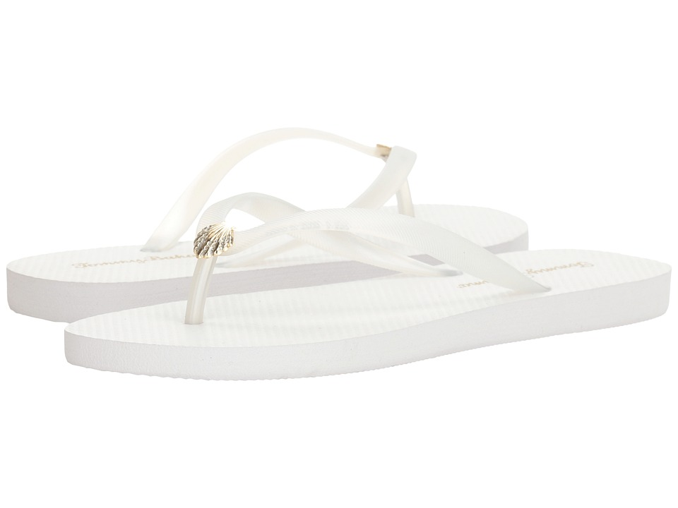 Tommy Bahama Whykiki Flat Solid (White 2) Women's Toe Open Shoes