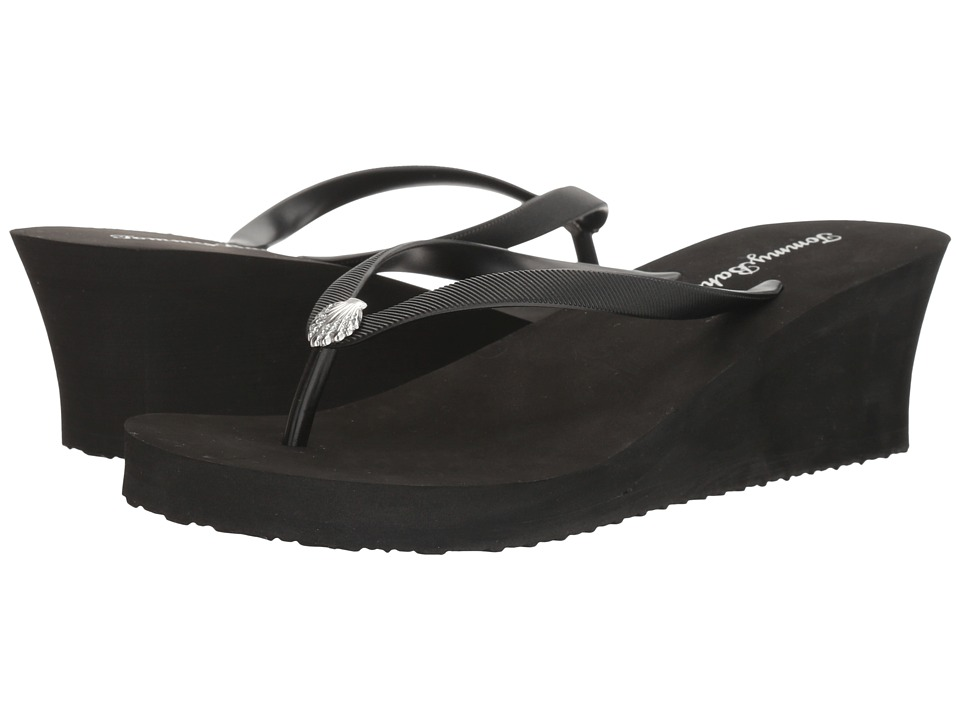 Tommy Bahama Whykiki Wedge Solid (Black 2) Women