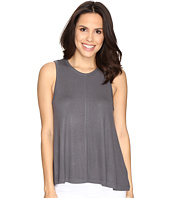 HEATHER - Basic Rib Swing Tank Top