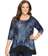 Karen Kane Plus - Plus Size Layered Contrast Hem Top