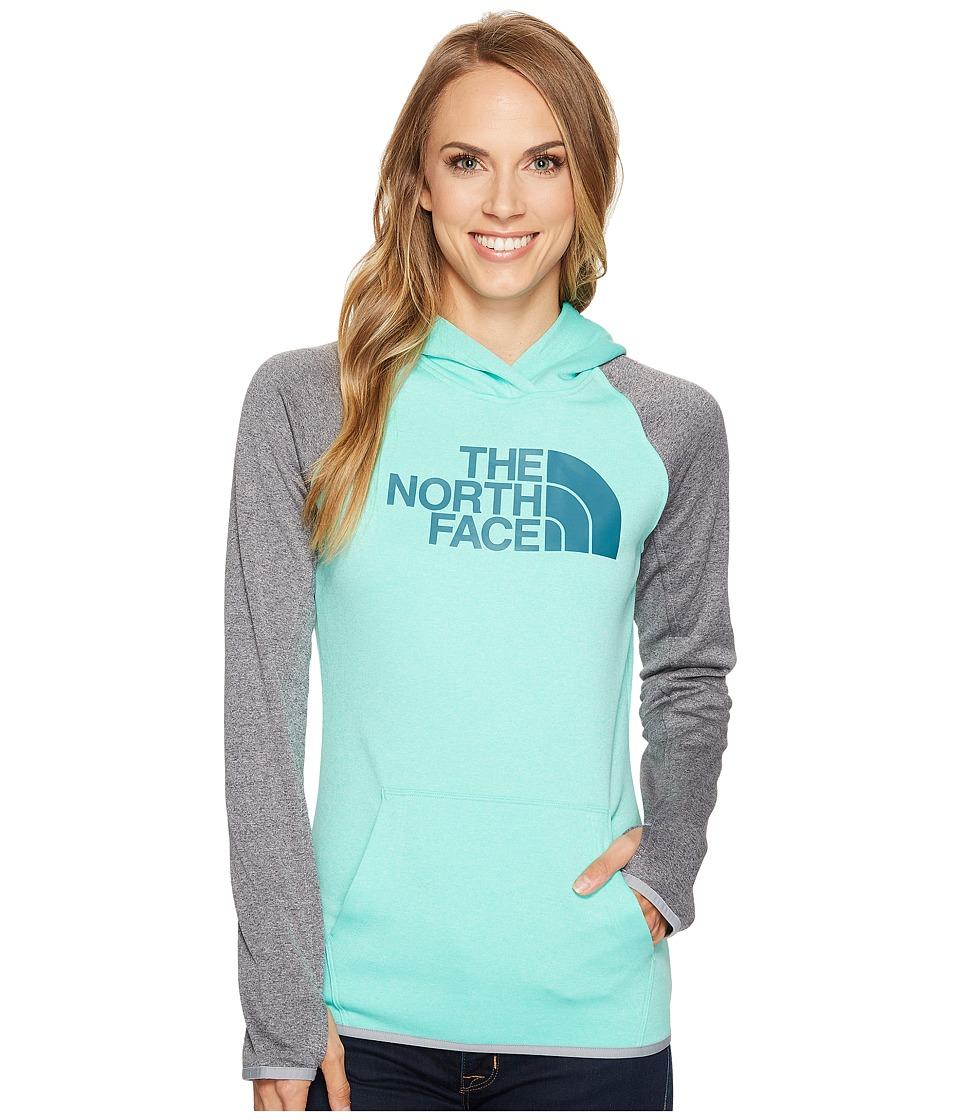 The North Face - Fave Half Dome Pullover Hoodie (Bermuda Green Heather/Harbor Blue (Prior Season)) Women's Sweatshirt